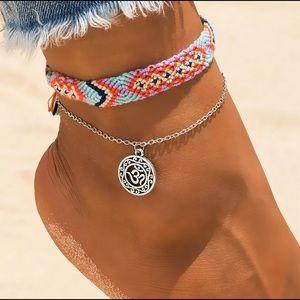 2 Pcs. Handmade Weave Ankle Bracelet